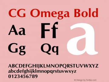 CG Omega Bold Version 1.00图片样张