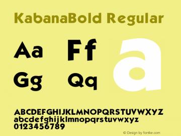 KabanaBold v1.0c图片样张