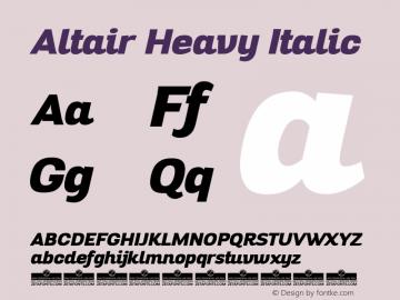 Altair Heavy Italic Version 1.000图片样张