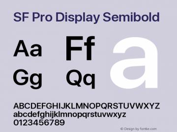 SF Pro Display Semibold Version 01.0d1e2图片样张