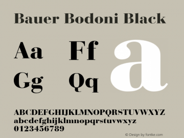 Bauer Bodoni CE Black Version 001.000图片样张