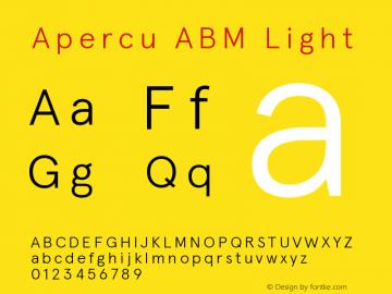 ApercuABM-Light Version 001.001图片样张