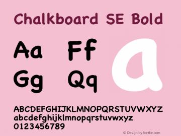 Chalkboard SE Bold 8.0d2e1  烈风convert图片样张