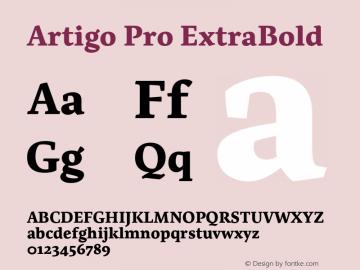 Artigo Pro ExtraBold Version 1.001;PS 001.001;hotconv 1.0.88;makeotf.lib2.5.64775图片样张