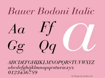 Bauer Bodoni CE Italic Version 001.000图片样张