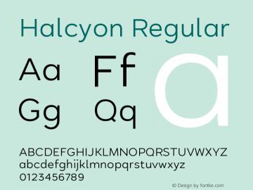 fonte halcyon