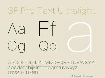 SF Pro Text Ultralight Version 01.0d1e2图片样张