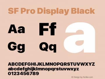 SF Pro Display Black Version 01.0d1e2图片样张
