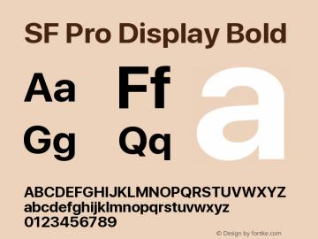 SF Pro Display Bold Version 01.0d1e2图片样张