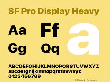 SF Pro Display Heavy Version 01.0d1e2图片样张