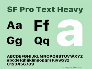 SF Pro Text Heavy Version 01.0d1e2图片样张