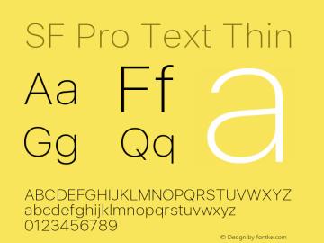 SF Pro Text Thin Version 01.0d1e2图片样张