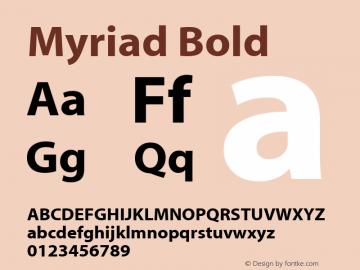 Myriad Bold Macromedia Fontographer 4.1.2 09/01/02图片样张