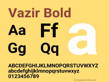 Vazir Bold Version 11.0.0图片样张