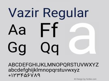 Vazir Version 11.0.0图片样张