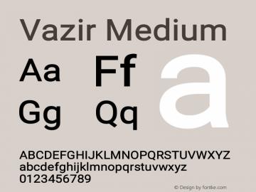 Vazir Medium Version 11.0.0图片样张
