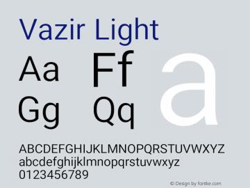 Vazir Light Version 11.0.0图片样张