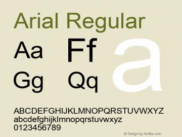 Arial Version 5.01.2x图片样张