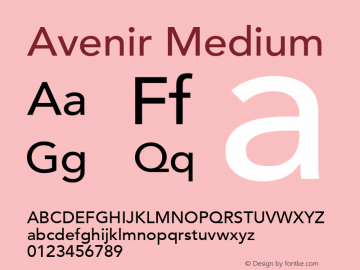 Avenir Medium 8.0d3e1图片样张