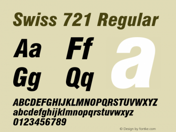 Swiss 721 Black Condensed Italic Version 2.0-1.0图片样张