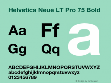 HelveticaNeueLTPro-Bd Version 1.300;PS 001.003;hotconv 1.0.38图片样张
