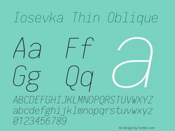 Iosevka Thin Oblique 1.13.1; ttfautohint (v1.6)图片样张