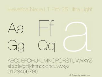 HelveticaNeueLTPro-UltLt Version 1.300;PS 001.003;hotconv 1.0.38图片样张