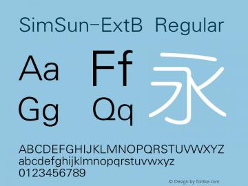 SimSun-ExtB Version 5.00图片样张