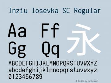 Inziu Iosevka SC Version 1.13.1图片样张