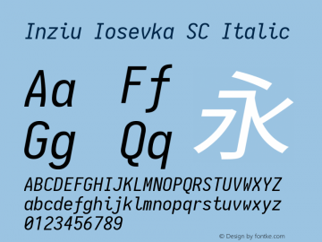 Inziu Iosevka SC Italic Version 1.13.1图片样张