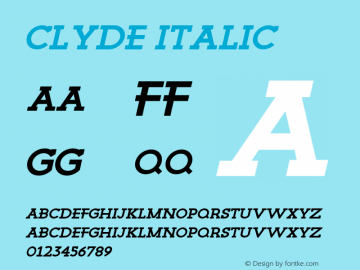 Clyde Regular Italic Version 1.000图片样张