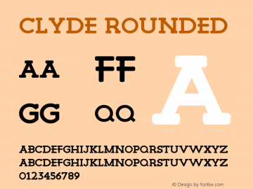 Clyde Rounded Version 1.000图片样张