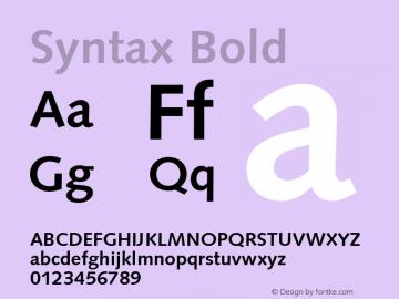 Syntax-Bold Version 1.00图片样张