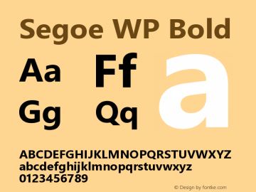 Segoe WP Bold Version 1.10图片样张