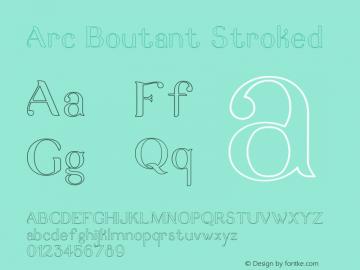 ArcBoutant-Stroked Version 1.000图片样张