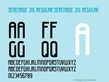 Serenade JNL Regular Version 1.000 - 2010 initial release图片样张