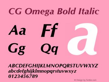 CG Omega Bold Italic Version 1.3 (Hewlett-Packard)图片样张