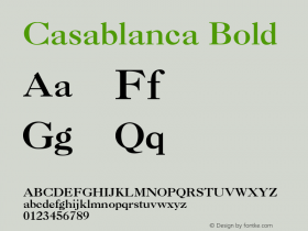 Casablanca Bold 001.003图片样张