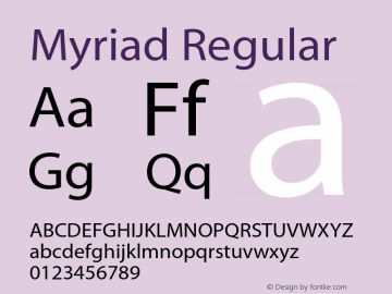 Myriad-Roman 001.000图片样张
