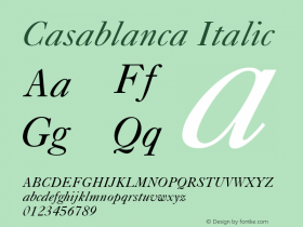 Casablanca Italic 001.003图片样张