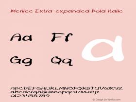 Merilee-ExtraexpandedBoldItalic Version 1.500图片样张
