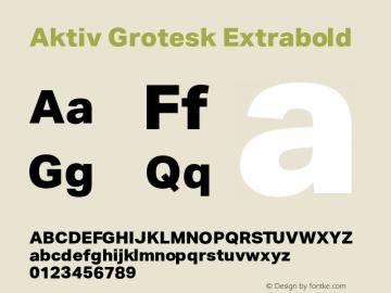 AktivGrotesk-Extrabold Version 1.000;PS 001.001;hotconv 1.0.56图片样张