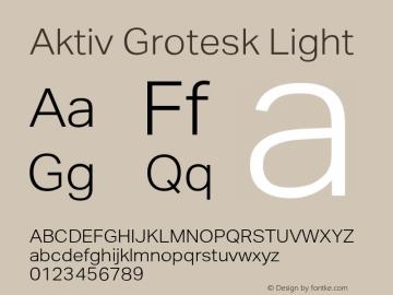 AktivGrotesk-Light Version 1.000;PS 001.001;hotconv 1.0.56图片样张