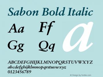 Sabon-BoldItalic Version 1.002;PS 001.001;Core 1.0.38;makeotf.lib1.6.5960图片样张
