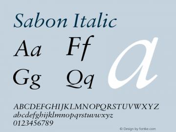 Sabon-Italic Version 1.001;PS 001.003;Core 1.0.38;makeotf.lib1.6.5960图片样张