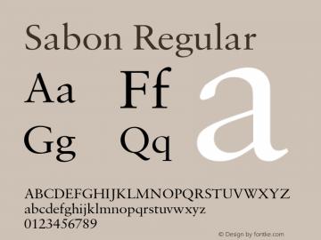Sabon-Regular Version 1.013;PS 001.003;Core 1.0.38;makeotf.lib1.6.5960图片样张