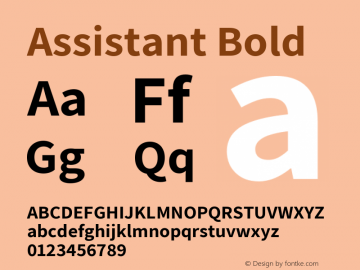 Assistant Bold Version 2.002图片样张