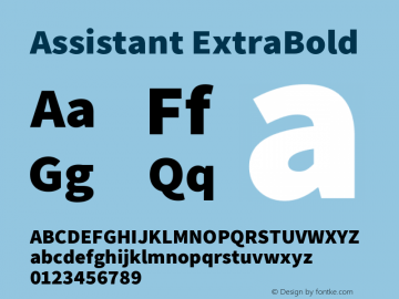 Assistant ExtraBold Version 2.002图片样张