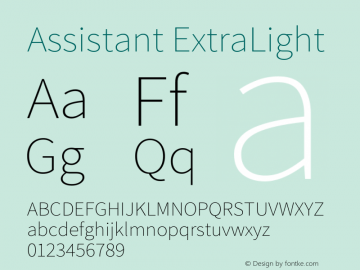 Assistant ExtraLight Version 2.002图片样张