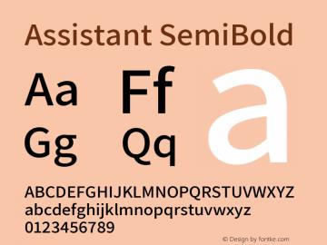 Assistant SemiBold Version 2.002图片样张